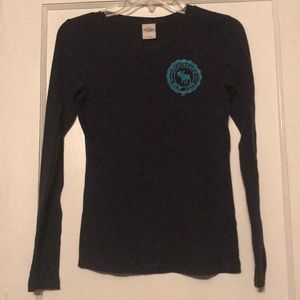 Abercrombie Navy Blue Long Sleeve t-shirt / top